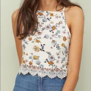 Tops - Floral halter top